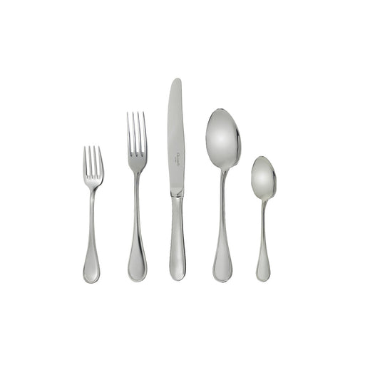 "Stainless Steel Five-Piece Place Setting ""Perles"" - Christofle"