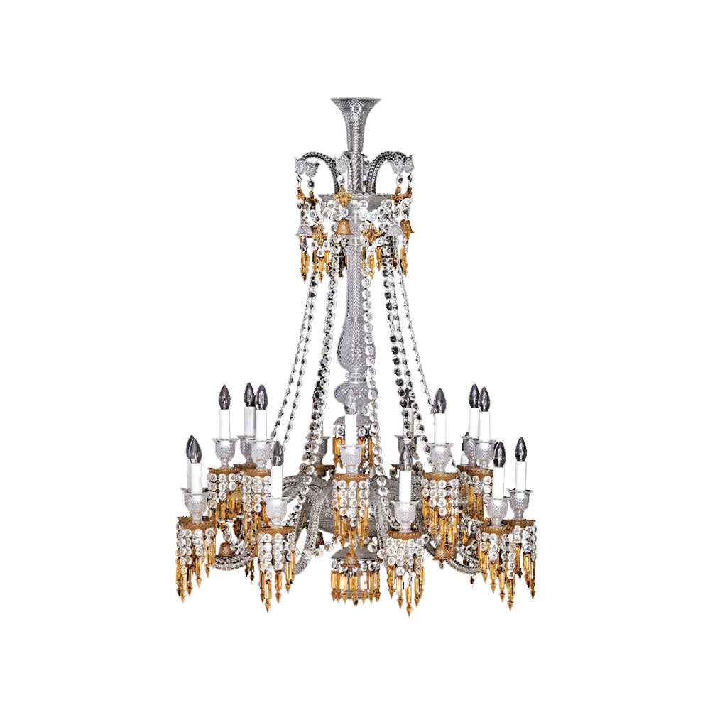 "Chandelier 18L Long ""Zenith Lustre Charleston"" - Baccarat"