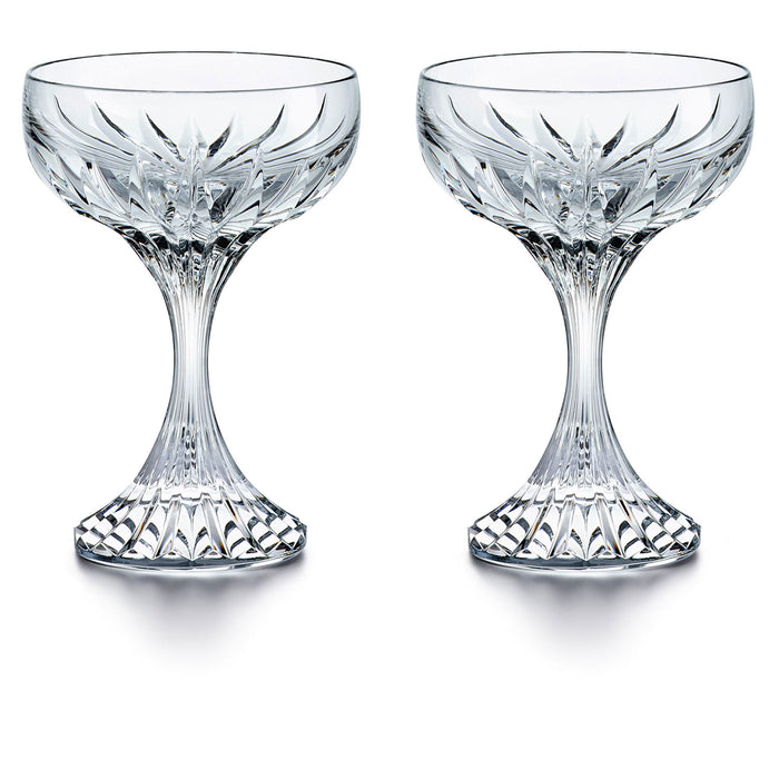 "Champagne Coupe Glass (Set x2) ""Massena"" - Baccarat"