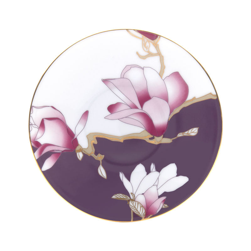 "Bread & Butter Plate Flowers ""Magnolia"" - Haviland"
