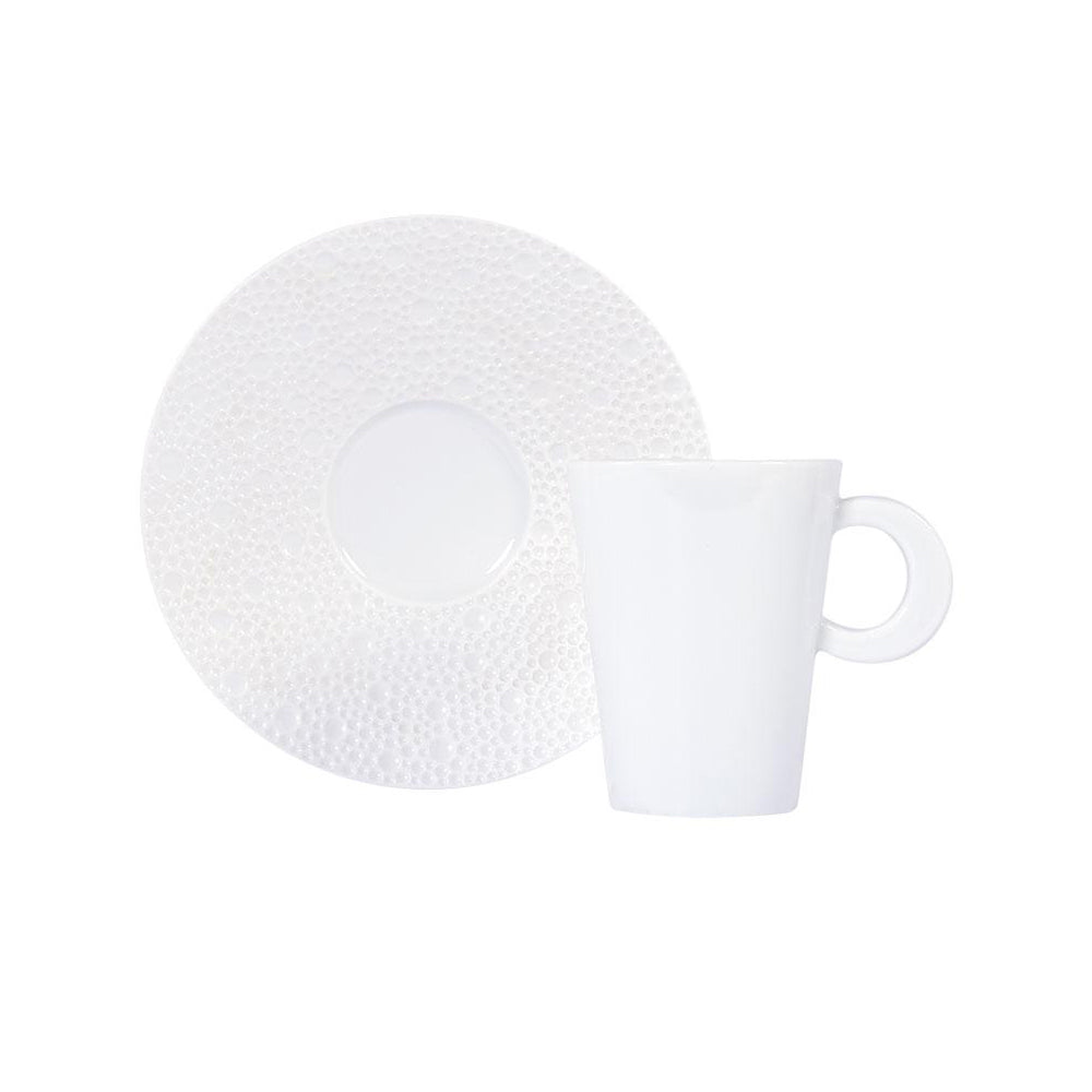 "Coffee Cup and Saucer ""Ecume"" - Bernardaud"