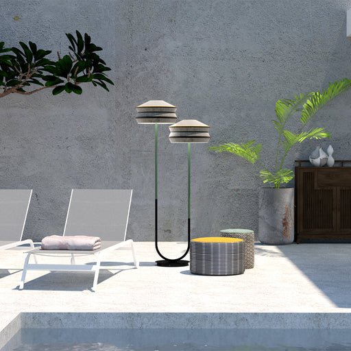 "Floor Lamp Double ""Calypso Antigua"" - Contardi"