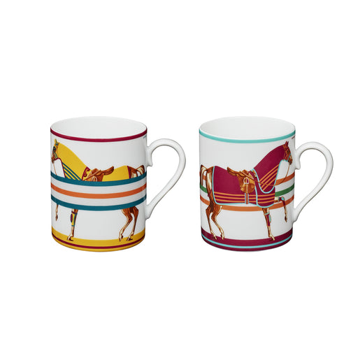 "Set of 2 Mugs ""Cheval à la Couverture"" - Hermes"