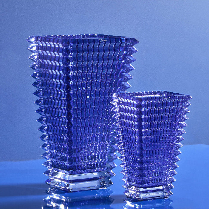 "Small Rectangular Vase ""Eye""- Baccarat"