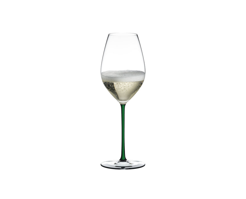 "Champagne Wine Glass Green ""Fatto A Mano"" - Riedel"