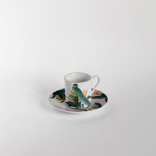 "Set of 6 Coffee Cup & Saucer ""Animalia"" - Vito Nesta"