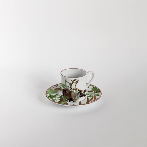 "Set of 6 Coffee Cup & Saucer ""Mont Blanc"" - Vito Nesta"