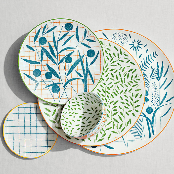 "Dessert Plate ""A walk in the Garden"" - Hermes"