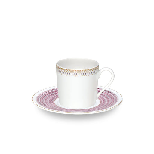 "Coffee Cup & Saucer ""Magnolia"" - Haviland"