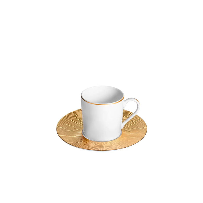"Coffee Cup & Saucer ""Infini Gold"" - Haviland"