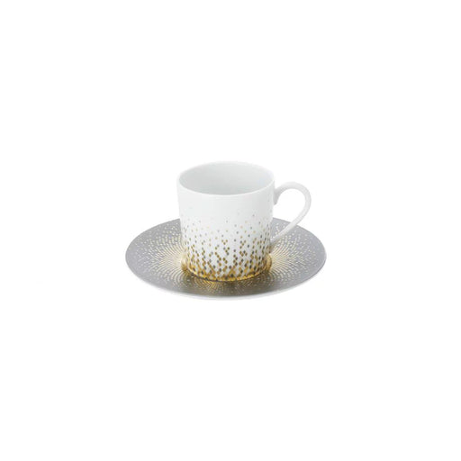 "Coffee Cup & Saucer ""Souffle d'Or"" - Haviland"
