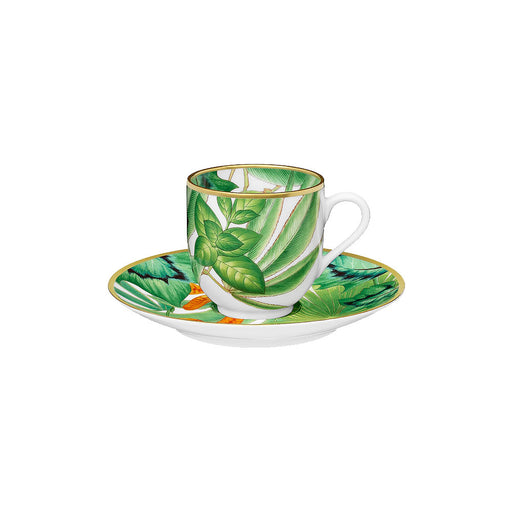 "Coffee Cup and Saucer ""Passifolia"" - Hermes"