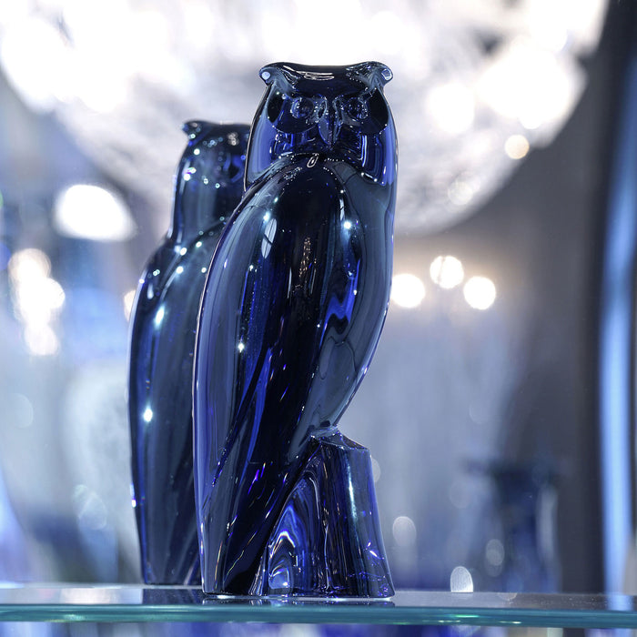 "Sculpture ""Eagle-Owl Midnight"" - Baccarat"