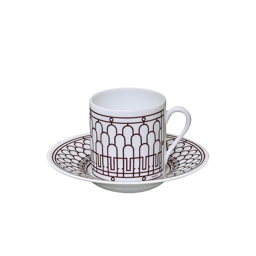 "Coffee Cup and Saucer ""H Deco Rouge"" - Hermes"