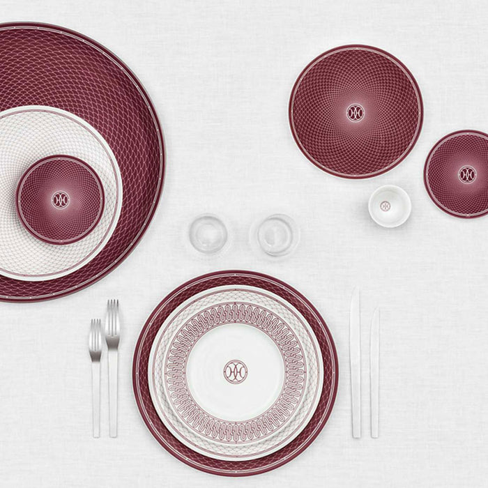 "Bread & Butter Plate ""H Deco Rouge"" - Hermes"