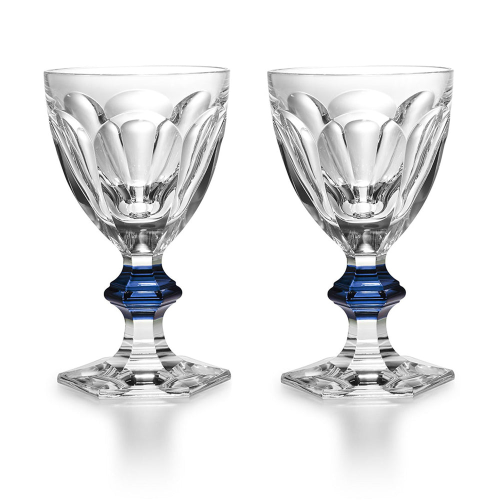 "Coloured Glass Set x2 ""Harcourt 1841"" - Baccarat"