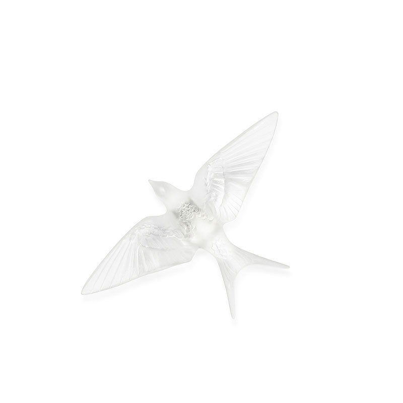 "Sculpture Swallow Wings Down Wall ""Hirondelles"" - Lalique"