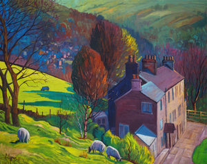 Hill Rise Oil on canvas by Northern Artist Chris Cyprus
