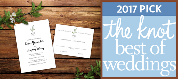 PRETTY STATIONERY FOR BEAUTIFUL SOULS NAMED WINNER IN THE KNOT BEST OF WEDDINGS 2017