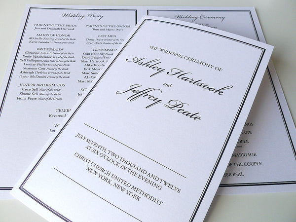 Classic Border Wedding Ceremony Program