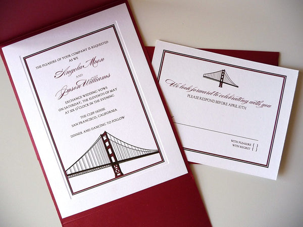 Golden Gate Bridge Wedding Invitation