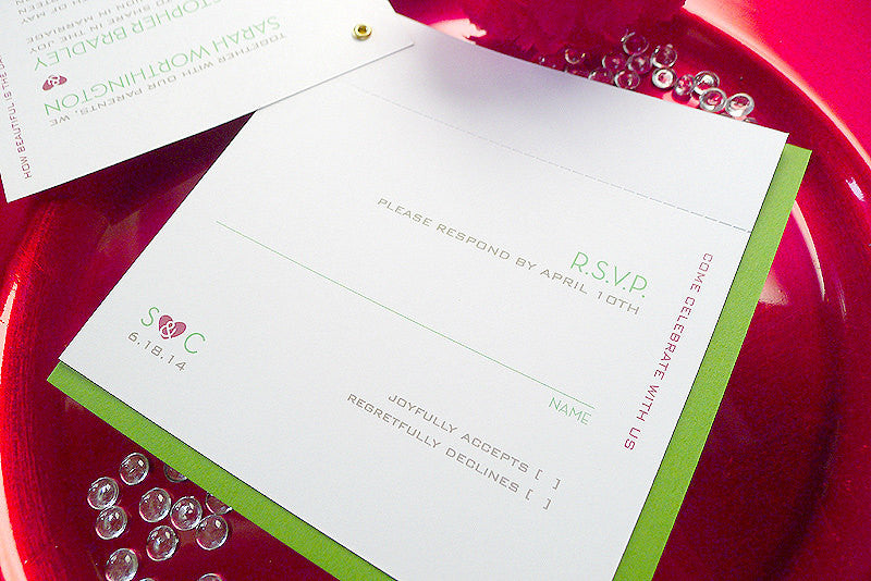 Modern Expressions Square Layered Wedding Invitation