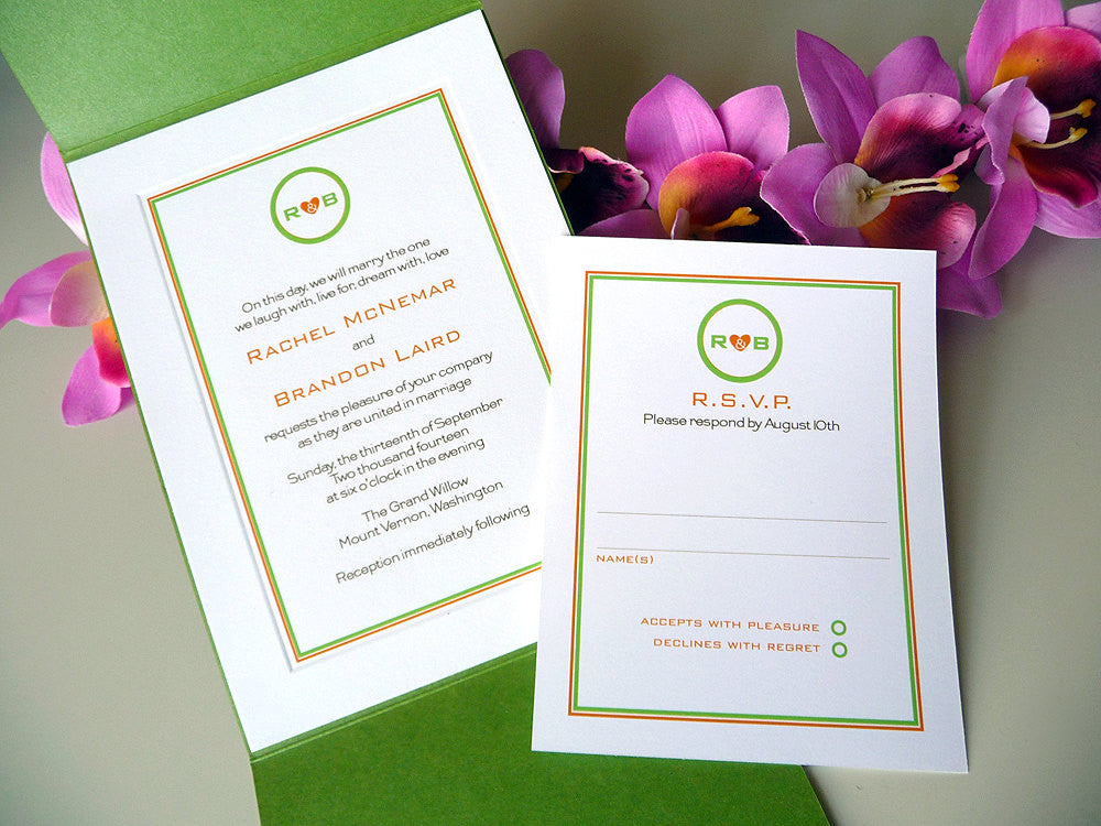 Modern Love Wedding Invitation