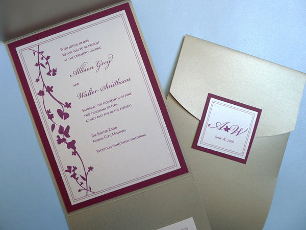 Sweeping Vines Wedding Invitation