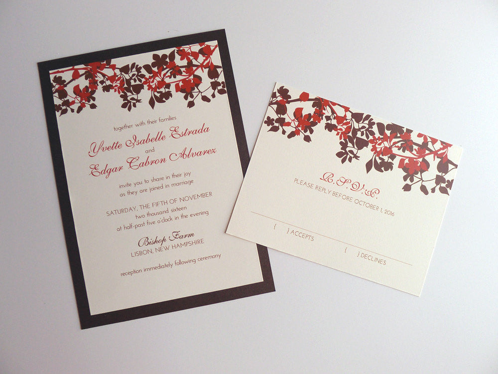 Treetop Silhouettes Wedding Invitation