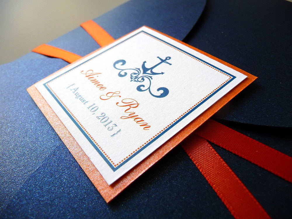 Love is a Voyage Petal Fold Wedding Invitation