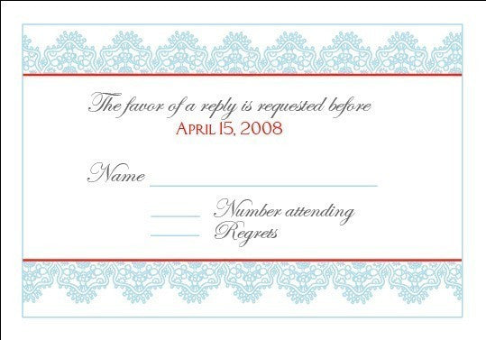 Modern Lace Wedding Invitation Set