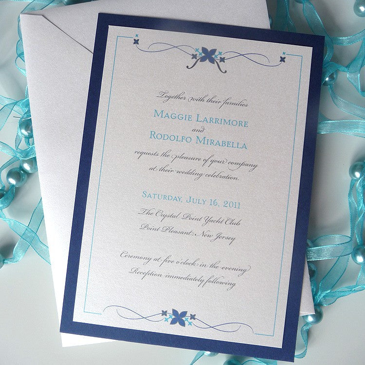 Simple Flourish Wedding Invitation