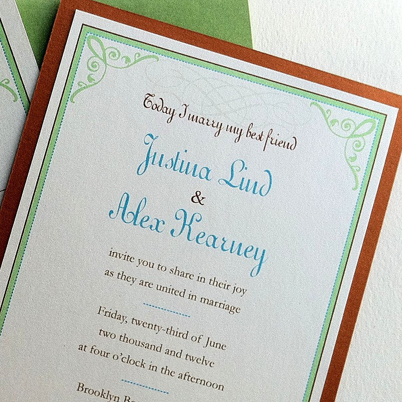 Retro Romance Wedding Invitations