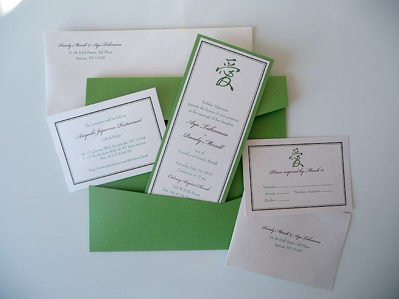 Love Natural Tea-Length Wedding Invitations - Pretty Stationery for ...