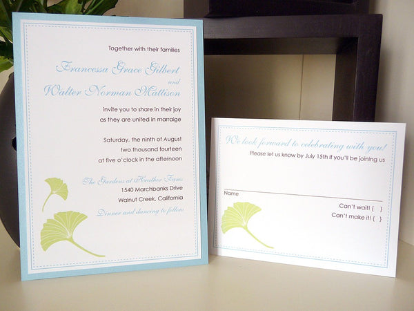 Gingko Breeze Wedding Invitations