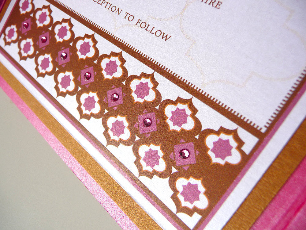 Moroccan-Inspired Pocketfold Wedding Invitation