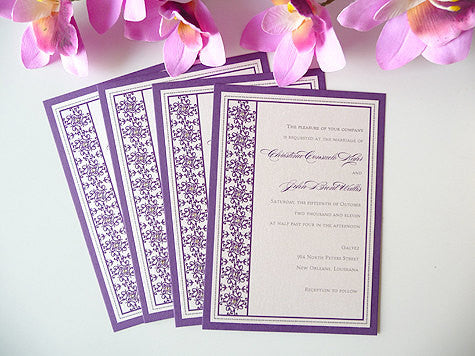 New Orleans Inspired Wedding Invitations