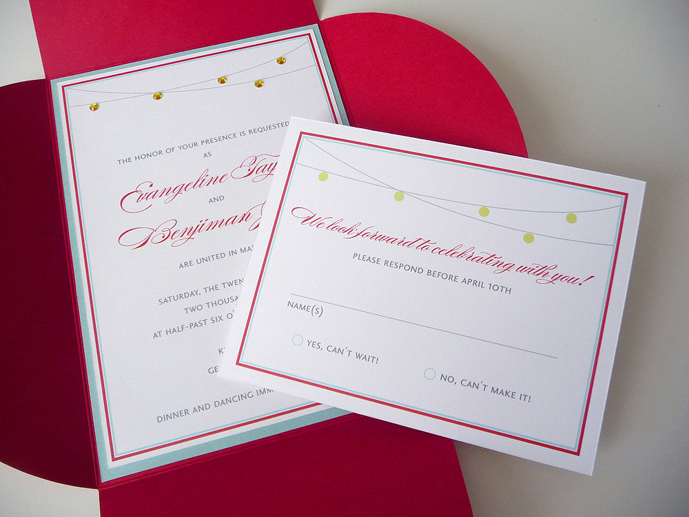 Love Shines Bright Wedding Invitation