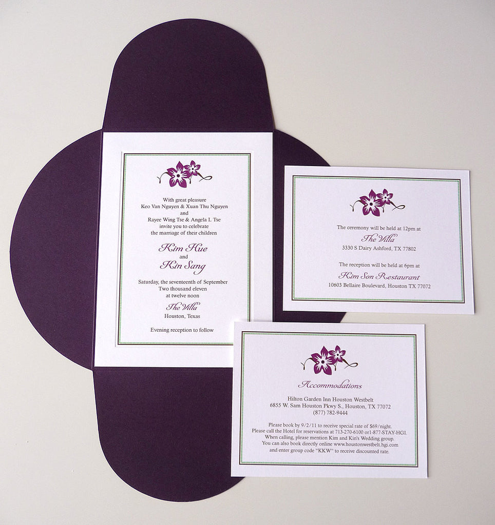 Sweet Blossoms Wedding Invitations