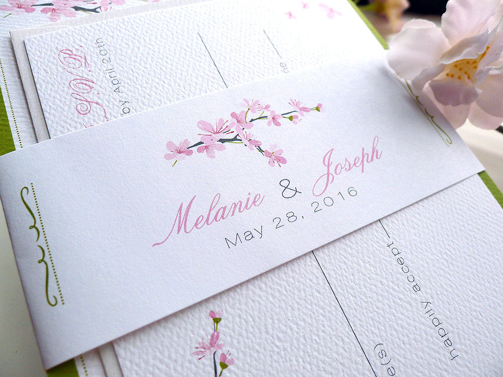 Cherry Blossoms Wedding Invitations