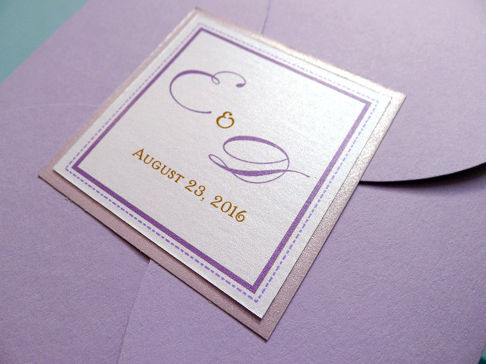 Crystal Elegance Petal Fold Wedding Invitation