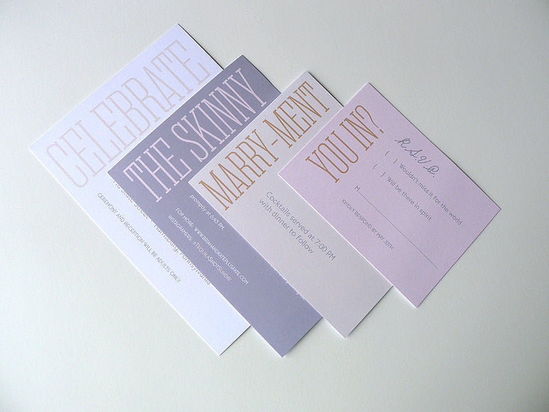 Simple and Modern Wedding Invitation