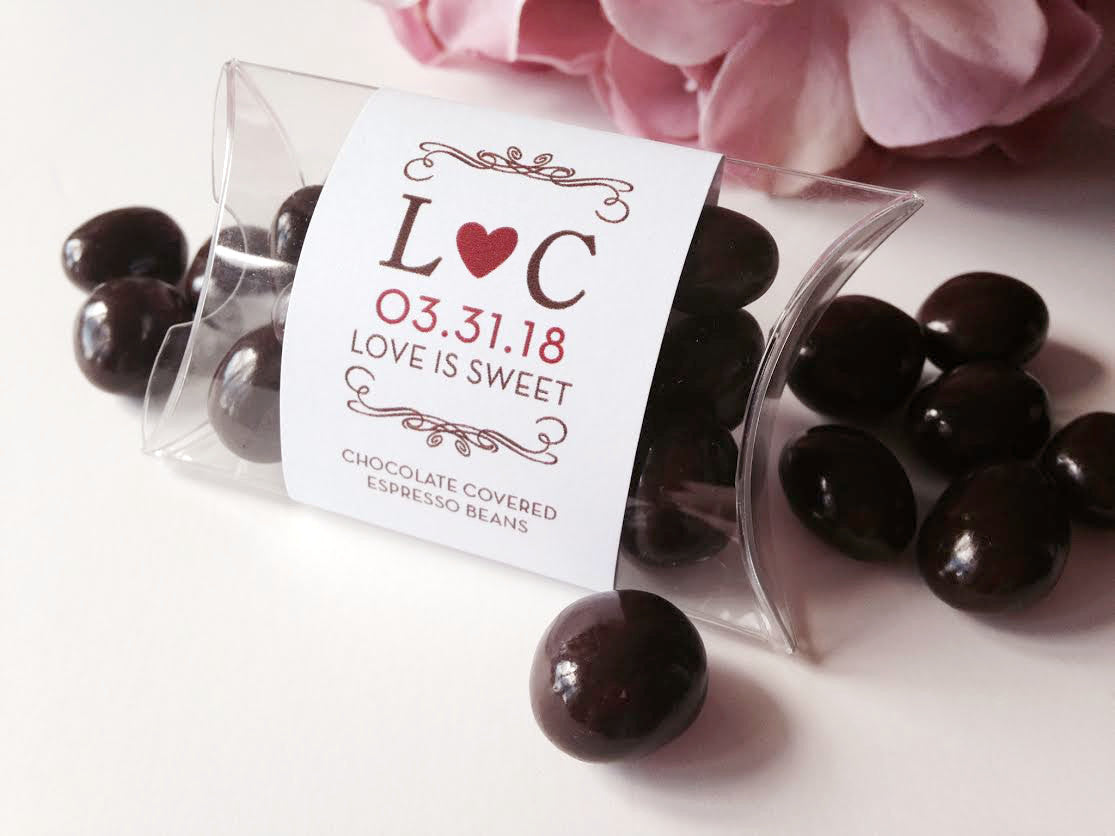 Chocolate Covered Almonds Wedding Favors - Pretty Stationery for ...
