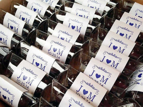 Chocolate Covered Almonds Wedding Favors