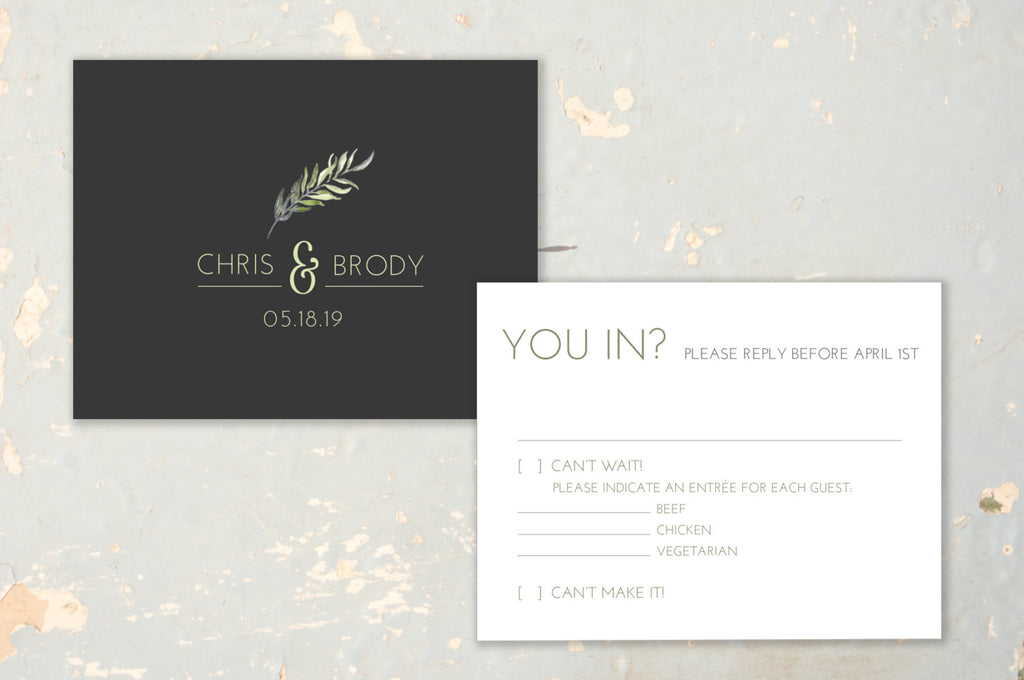 Sophisticated & Modern Wedding Invitation