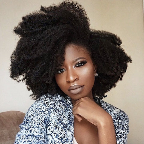 hairstyle for natural thick hair