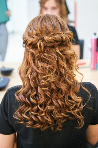 full curls with mini curling wand