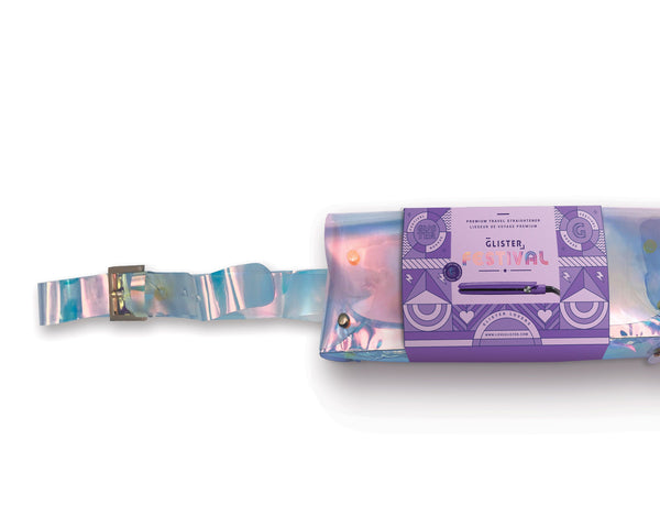 Summer Collection Mini Flat Iron (with Holo Bandolier Bag) - Ultraviolet