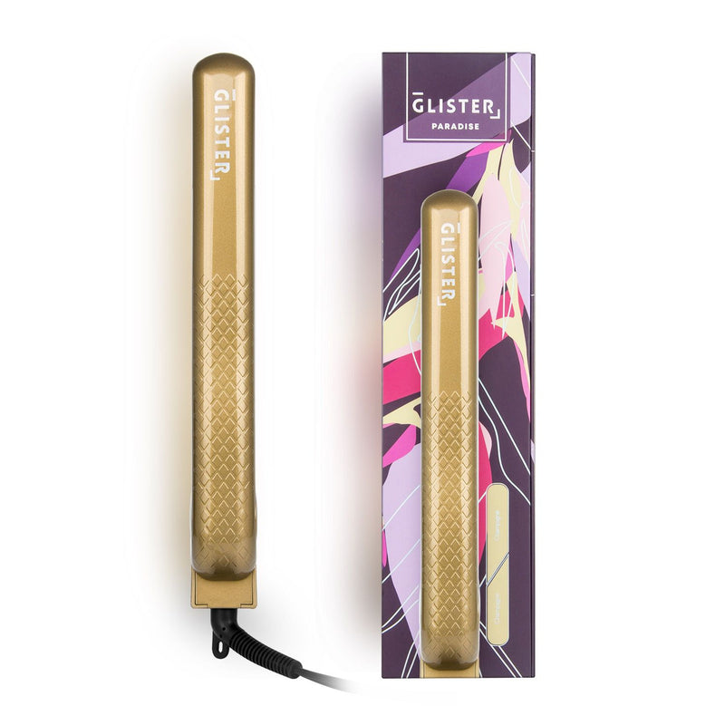 "Paradise 1.25"" Flat Iron with Tourmaline Gemstone Infusion - Champagne"