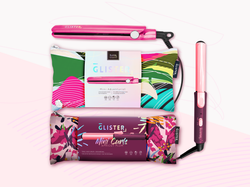 Mini Travel Curler and Flat Iron Duo (with Carrying Pouches)